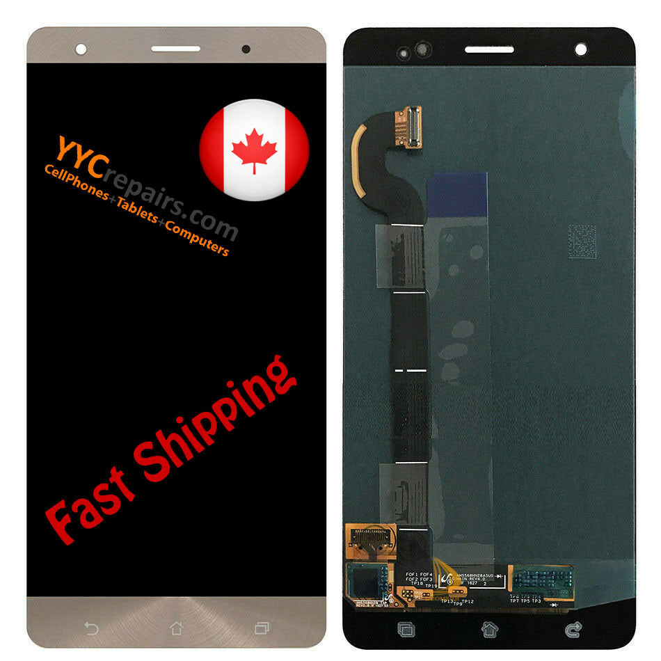OEM ASUS Zenfone 3 Deluxe ZS570KL Z016S Z016D Super AMOLED LCD Touch Screen  Gold